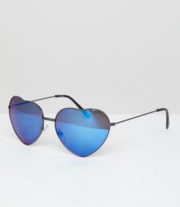 Read more about Jeepers peepers heart frame novelty sunglasses - gun metal