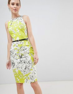 Read more about Closet london belted pencil dress - lime