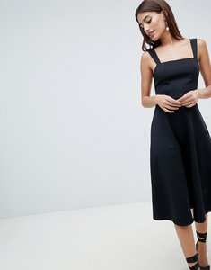 Read more about Asos design square neck prom dress - black