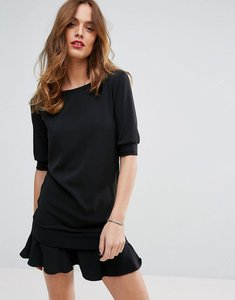 Read more about Sisley dress with frill hem - black
