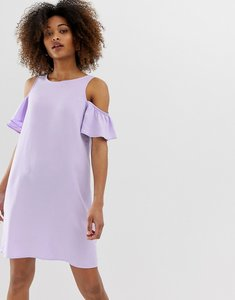 Read more about Noisy may short sleeve cold shoulder shift dress