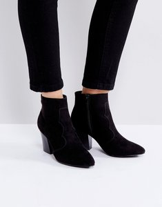 Read more about London rebel mid heel boot - black micro