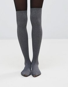 Read more about Pretty polly marl secret sock tights - black mix