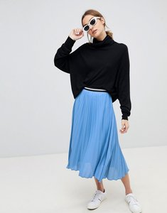 Read more about Stradivarius pleated midi skirt - blue
