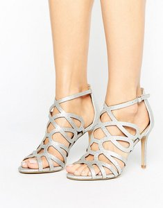 Read more about Head over heels by dune mae silver caged heel sandals - silver