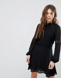 Read more about New look crochet insert high neck dress - black