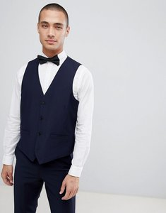 Read more about French connection slim fit peak collar tuxedo waistcoat - navy
