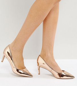 Read more about Asos soulful mid heels - nude metallic
