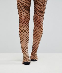 Read more about Asos maternity oversized fishnet tights - black