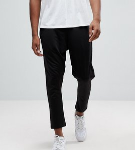 Read more about Asos tall tapered joggers in poly tricot - black
