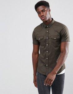 Read more about Brave soul double pocket short sleeve shirt - khaki