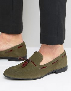 Read more about London brogues tassel loafers in green - green