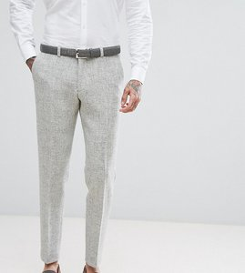Read more about Heart dagger harris tweed skinny suit trousers - pale grey