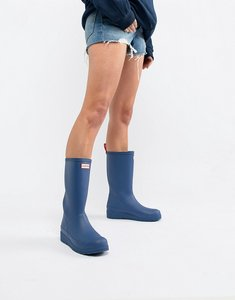 Read more about Hunter original play blue tall wellington boots - peak blue