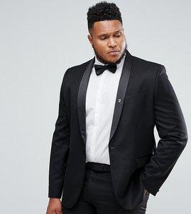 Read more about Farah plus skinny tuxedo suit jacket - black