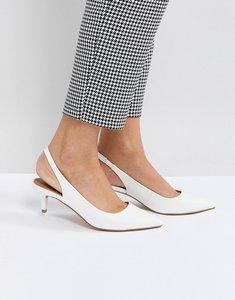Read more about Asos spirit slingback kitten heels - white