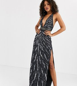 Read more about Asos design tall maxi dress with cut outs in heavy embellishment