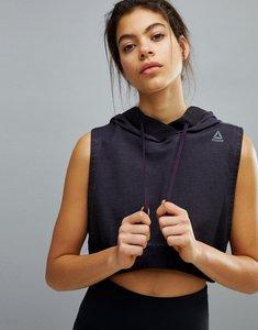Read more about Reebok combat sleeveless hoodie - black