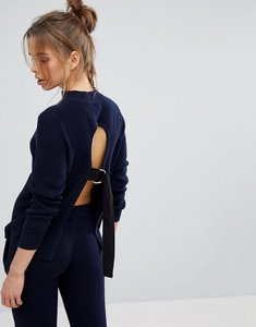 Read more about Micha lounge tie back jumper - navy