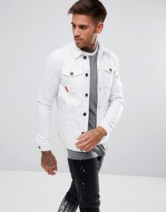 Read more about 11 degrees muscle denim jacket in white - white