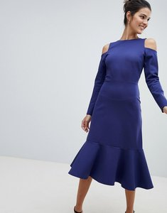 Read more about Closet cold shoulder dress - blue