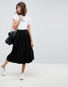 Read more about Asos midi skirt with box pleats - black