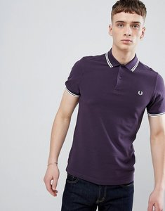 Read more about Fred perry twin tipped polo in purple - 513