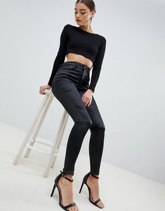 Read more about Asos design ridley high waist skinny jeans in high shine stretch satine fabric