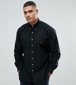 Read more about Polo ralph lauren tall oxford shirt in black - rl black
