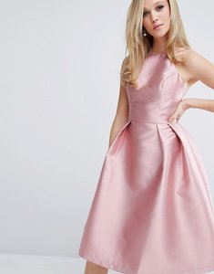 Read more about Chi chi london structured satin prom dress - rose