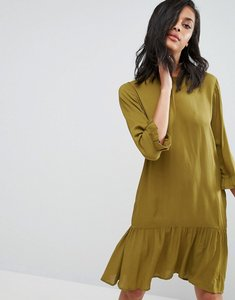 Read more about Minimum drop peplum dress - winter olive