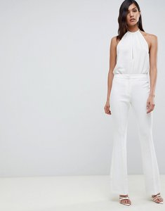 Read more about Asos design slim kick flare trouser in ivory