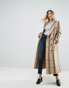 Read more about Asos wool coat in check - multi