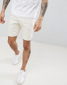 Read more about Selected homme denim shorts in white - white denim