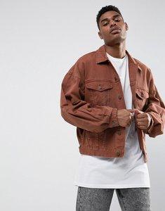 Read more about Asos oversized denim jacket in vintage pink - pink