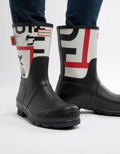 Read more about Hunter original logo wellies in black - black
