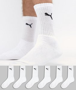 Read more about Puma 6 pack regular crew socks in white - white