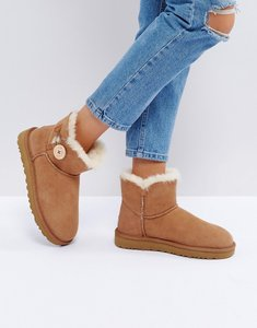 Read more about Ugg mini bailey button ii chestnut boots - chestnut