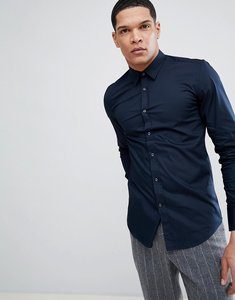 Read more about Antony morato stretch shirt in navy - navy