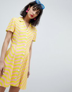Read more about House of holland surfer fit and flare dress - lime pink