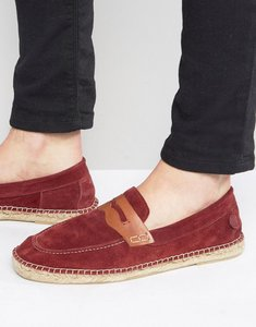 Read more about Hudson london juan suede slip on suede espadrilles - red
