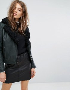 Read more about Goosecraft lined biker jacket - grey