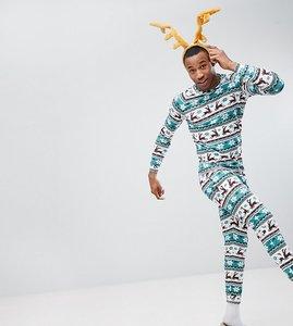 Read more about Off-duty christmas fairisle pyjama set - multi