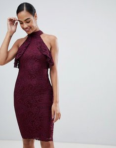 Read more about Ax paris racer neck midi dress in lace