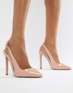 Read more about Lost ink tanya clear detail sling back court shoes - pink