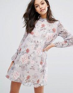 Read more about Miss selfridge printed ruffle mini dress - print