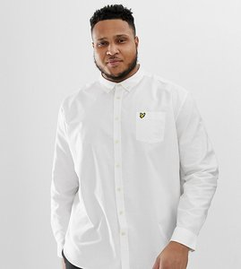 Read more about Lyle scott buttondown logo oxford shirt in white - white