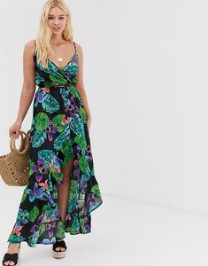Read more about Influence high low maxi dress in tropical floral print