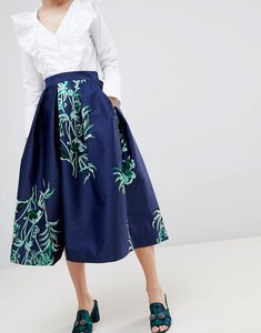 Read more about Closet london midi skirt - navy