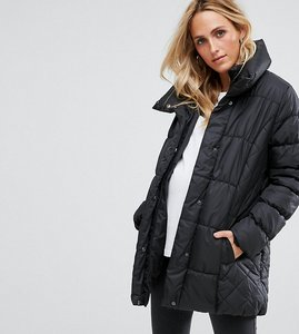 Read more about Mamalicious belted padded parka - black